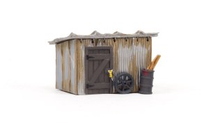 Woodland Scenics HO Built and Ready Tin Shack BR5056