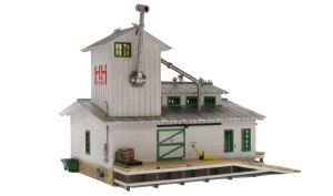 Woodland Scenics HO Built and Ready H&H Feed Mill BR5059