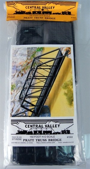 Central Valley Model Works HO 150 Ft. Pratt Truss Bridge Kit 1902