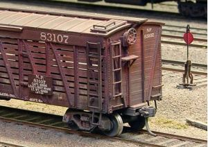 Central Valley Model Works HO 40′ Stock Car Kit Undecorated/Northern Pacific Style 1001
