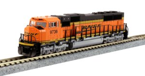 Kato N Scale Burlington Northern Santa Fe SD70MAC BNSF #3736 176-6320
