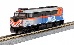 Kato N Scale Chicago Metra #181 F40PH Ditch Lights Village of Schaumburg TCS DCC 76-9106DCC