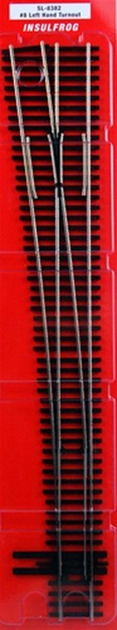 Peco HO Code 83 Left Hand Switch Track #8 Turnout Insulfrog SL8382