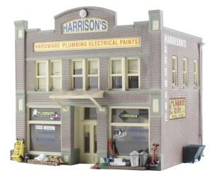 Woodland Scenics HO Built and Ready Harrison's Hardware Store BR5022