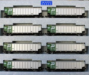 Kato N Scale Burlington Northern Bethgon Protein Gondola 8-Car Set #1 1064650