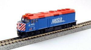 Kato N Scale Metra #163 F40PH Ditch Lights City of Elmhurst 76-9103
