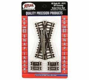 Atlas HO Code 83 30 Degree Crossing Track (1 pc) 574