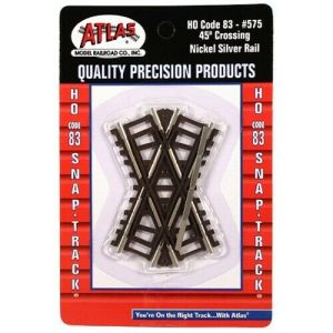 Atlas HO Code 83 45 Degree Crossing Track (1 pc) 575