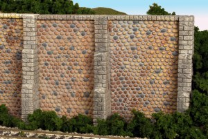 Monroe Models HO Retaining Wall Fieldstone (2 pcs) 107