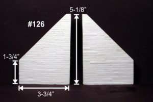 Monroe Models HO Wing Walls Board Formed Concrete For Tunnels or Bridges (2 pcs) 126