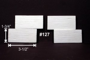 Monroe Models HO Retaining Wall Board Formed Concrete (4 pcs) 127