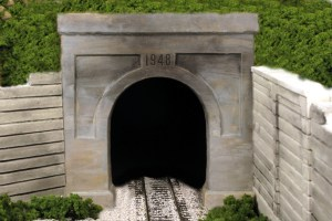 Monroe Models HO Tunnel Portal Modern Concrete Single Track 133