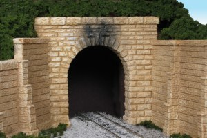 Monroe Models HO Tunnel Portal Sand Stone Block Single Track 164