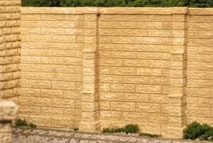 Monroe Models HO Retaining Walls Sand Stone Block (2 pcs) 167