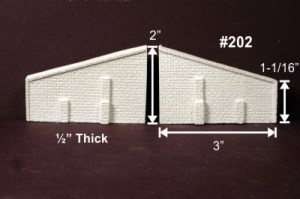 Monroe Models N Scale Abutment Wings Cut Stone (2 pcs) 202
