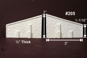 Monroe Models N Scale Abutment Wings Random Stone (2 pcs) 205