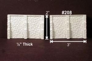 Monroe Models N Scale Retaining Walls Random Stone (2 pcs) 208