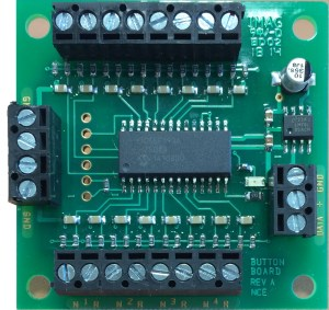 NCE Button-Board ~ Local push button add-on for Switch8-Mk2 5240152