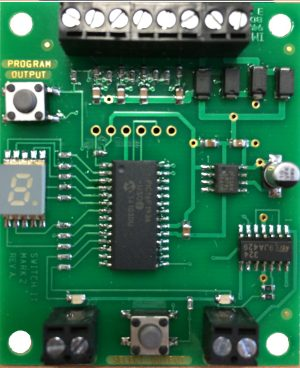 NCE SwitchIt Mk2 accessory decoder, controls 2 Tortoise switch machines 5240154