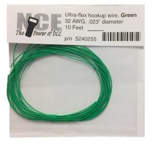 NCE Green Ultraflex Wire 32AWG 10 Feet 5240255