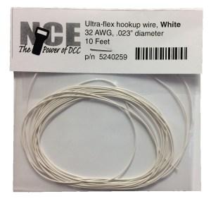 NCE White Ultraflex Wire 32AWG 10 Feet 5240259