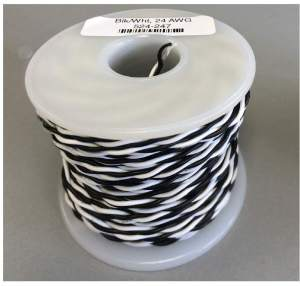 NCE Black & White 24 AWG Stranded Twisted Pair 100′ 5240247