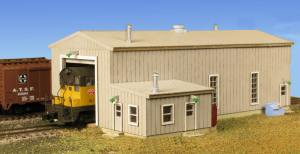 Monroe Models N The Diesel Engine House Laser Kit #9219