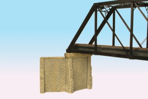 Monroe Models HO Bridge Abutments With Wing Walls Cut Stone (2 pack) #930