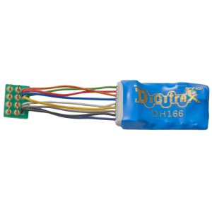 Digitrax DH166PS HO DCC Mobile Decoder Easy Connect 9 Pin to 8 Pin 1″ Harness