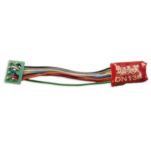 Digitrax DN136PS 1 Amp HO or N DCC Mobile Decoder Short 8 Pin Harness