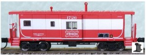 Bluford Shops N Scale Frisco SLSF #1726 Bay Window Caboose 44090