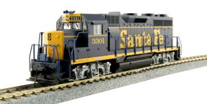 Kato HO Santa Fe GP35 Phase 1a Dress Blue ATSF #3301 37-3021