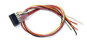 ESU 51951 Cable Harness 6-Pin Plug According To NEM 651, DCC Color, Length 300mm