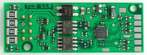TCS LL8 DCC Decoder 8 Function LifeLike/Proto 2000 Models 1343