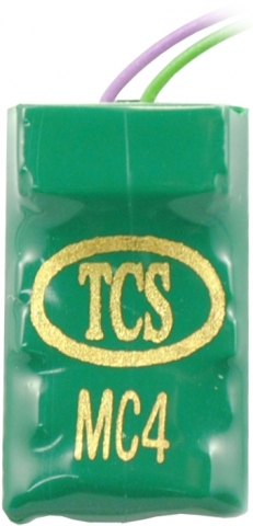 TCS MC4 Micro DCC Decoder Small Form Factor 7 Pin or Hard-Wired 4 Functions 1017