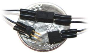 TCS 2-Pin Mini Connector (Black and White Wires) 1301