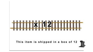 PIKO G Scale 35208 ~ G600 600MM Straight Track 23.6″ With Joiners ~ 12 Pieces