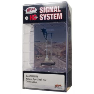 Atlas HO Scale Signal Type G ~ Single Head ~ With LED's ~ 70000076