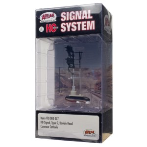 Atlas HO Scale Signal Type G ~ Double Head ~ With LED's ~ 70000077