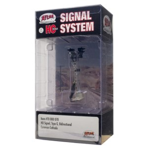 Atlas HO Scale Signal Type G ~ B-Directional ~ With LED's ~ 70000078