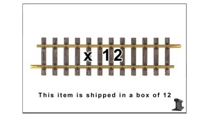 PIKO 35200 G320 Straight Track 12.6″ W/ Joiners ~ 12 Pack ~ G Scale