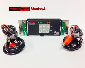 DCC Specialties RRampMeter Version III V3 ~ With Battery Backup, Enclosure, Wire Leads, Clips