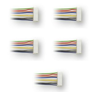 Digitrax DHWH ~ 9 Pin To Bare Wire Harness ~ 5 Pack