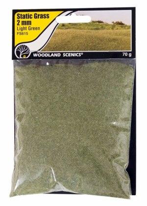 Woodland Scenics Static Grass ~ 2mm Light Green ~ FS615
