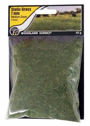 Woodland Scenics Static Grass ~ 7mm Medium Green ~ FS622