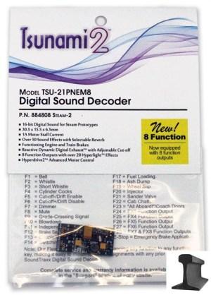 Soundtraxx Tsunami 2 DCC Sound Steam-2 ~ 21 Pin ~ 8 Function ~ 884808