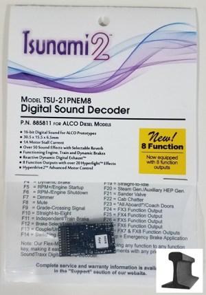 Soundtraxx Tsunami 2 DCC Sound ALCO ~ 21 Pin ~ 8 Function ~ 885811