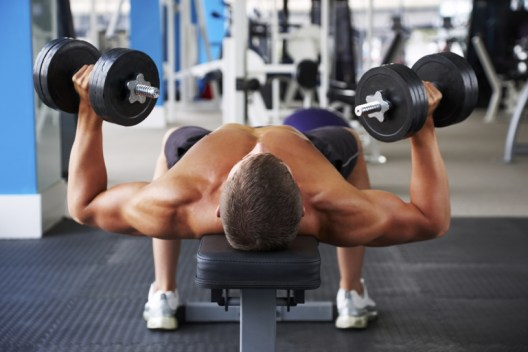 Flat Dumbell Chest press