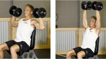 shoulder dumbell press on bench