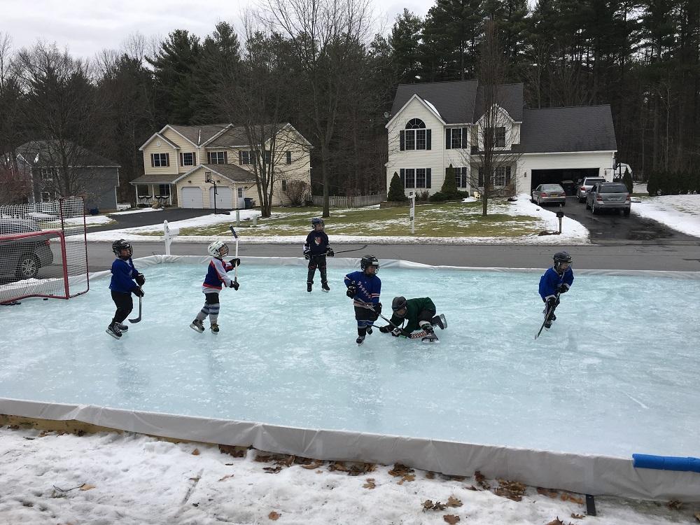 Backyard Ice Rink Kits Iron Sleek Ice Rink Kits